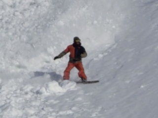 Snowboarders fight off moose after avalanche