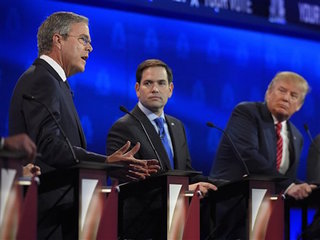 Debate highlights GOP's 2 tracks
