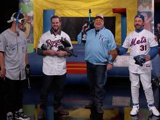 KC Royals pelt Jimmy Kimmel with paintballs