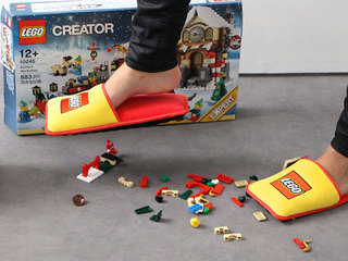 Lego slippers designed to protect parents