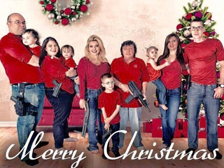 Nev. politician features guns in Christmas card