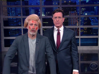 Jon Stewart channels his inner Donald Trump