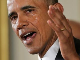 A teary Obama announces executive orders on guns