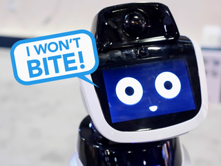 We interviewed a creepy robot at CES