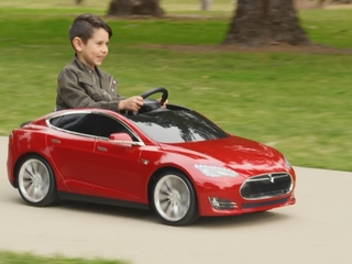 Soon your kids can stunt in a mini-Tesla