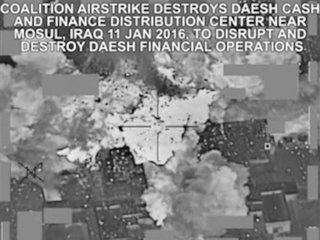 Airstrikes destroyed 'millions' of ISIS cash
