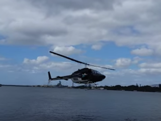 VIDEO: Helicopter crash in Pearl Harbor, Hawaii