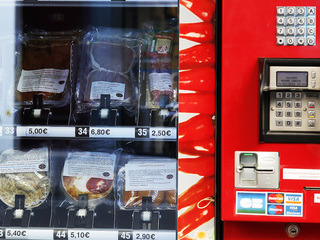 Meat vending machine debuts in France
