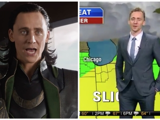 Tom Hiddleston blames Thor for Chicago storms