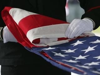 Dozens attend funeral to honor homeless veteran
