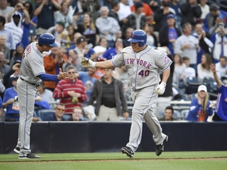 Bartolo Colon delights fans with first home run