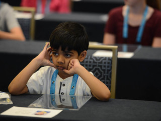 6-year-old Spelling Bee participant exits