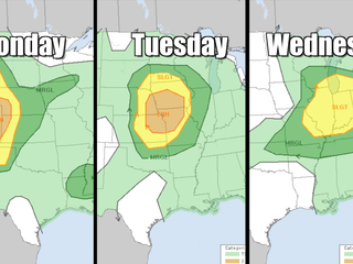 Multi-day severe weather outbreak for middle US