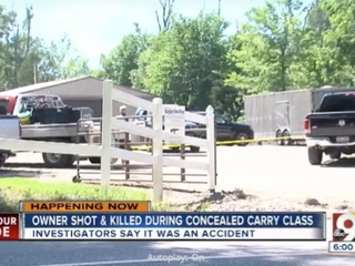 Shop owner killed during concealed carry class