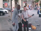 WATCH: Seal, street performer in impromptu duet