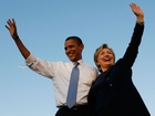 Obama makes his first campaign stop with Clinton