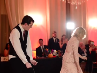 WATCH: Mother, son pull off epic wedding dance