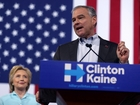 Kaine shows off Trump-mocking skills in VP intro