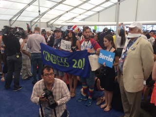 Gallery: Delegates walk out of DNC in protest