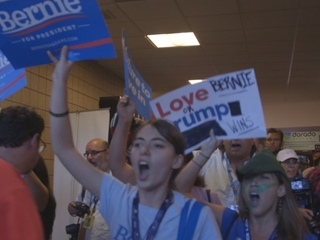 Sanders supporters storm out of convention