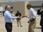 Obama visits flood-damaged Louisiana