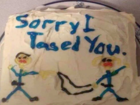 Deputy sends cake to apologize for tasing