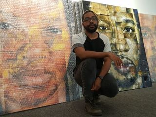 Chicago artist uses portraits as a protest