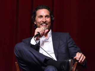 Matthew McConaughey gives students a ride home