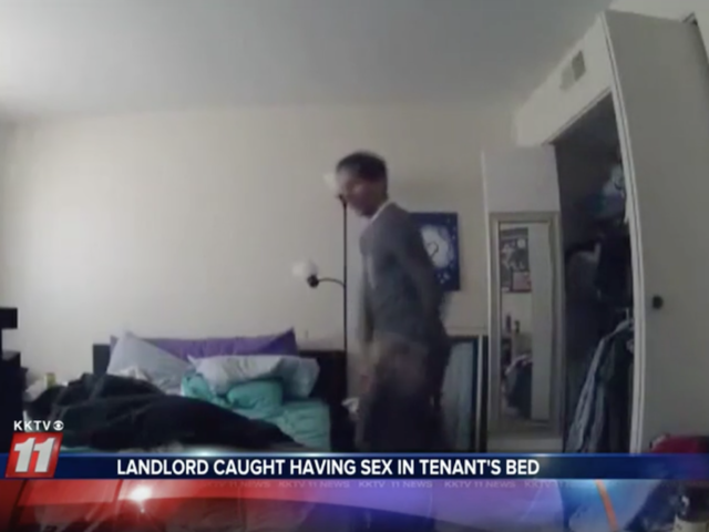 Mobile security app: Landlord 'caught having sex on tenant's bed'