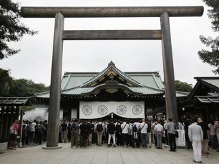 Japan's defense minister visits Yasukuni Shrine