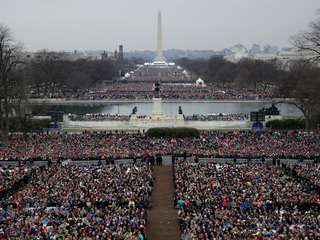 How many people attended Trump's inauguration?