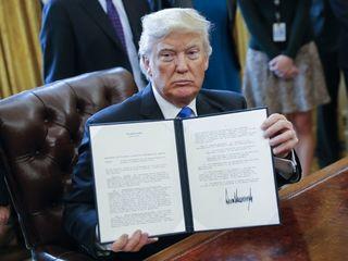 Trump says he hasn't gotten calls on pipelines