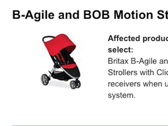 Britax B-Agile and BOB Motion strollers