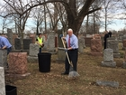 Pence helps clean up vandalized Jewish cemetery