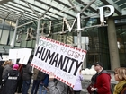 Trump Tower in Vancouver opens amid protests