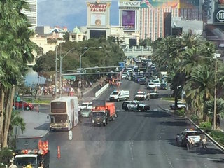 Las Vegas shooter kills 1 on strip