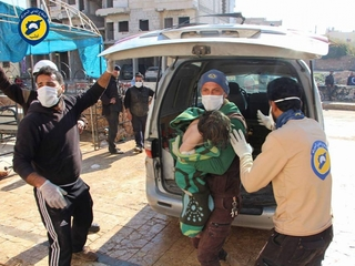 Syrian town attacked again after chemical strike
