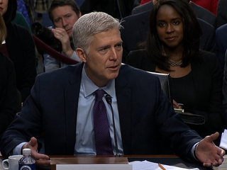 Gorsuch asks his first questions from bench