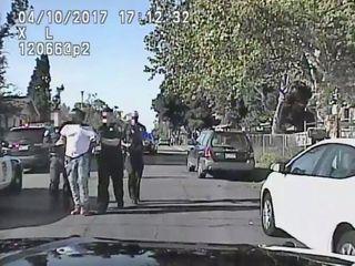 Video: Police officer beats alleged jaywalker