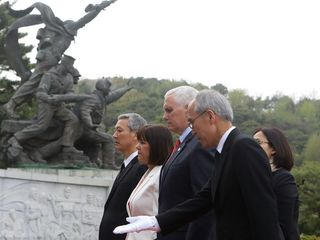 Pence focuses on North Korea during Asia tour