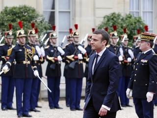 Emmanuel Macron takes office in France