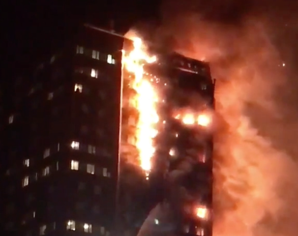Six dead in London tower block fire