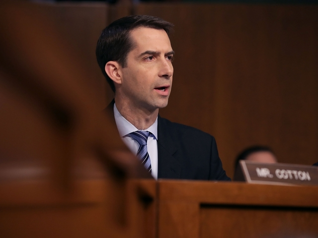 Finally, someone says it! Sen Cotton throws in an unexpected question