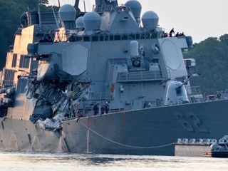 7 US sailors missing after Navy ship collision