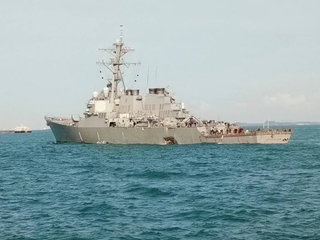 10 missing after Navy destroyer collision