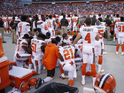 Group of Browns players kneel during anthem
