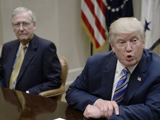 Trump, McConnell feud risks harming GOP in 2018