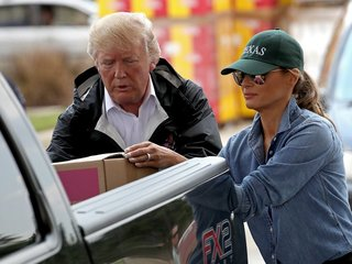 Trump makes second visit to Harvey-hit Texas