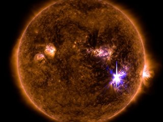 Sun unleashes strongest solar flare in decade