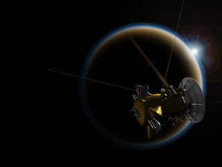 Cassini spacecraft gets 'goodbye kiss'
